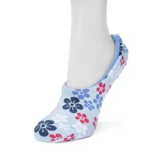 Muk Luks Women's Blue Ballerina Slipper Socks
