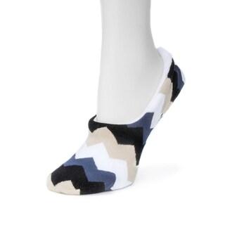 Muk Luks Women's Ballerina Black Spandex and Nylon Slipper Socks