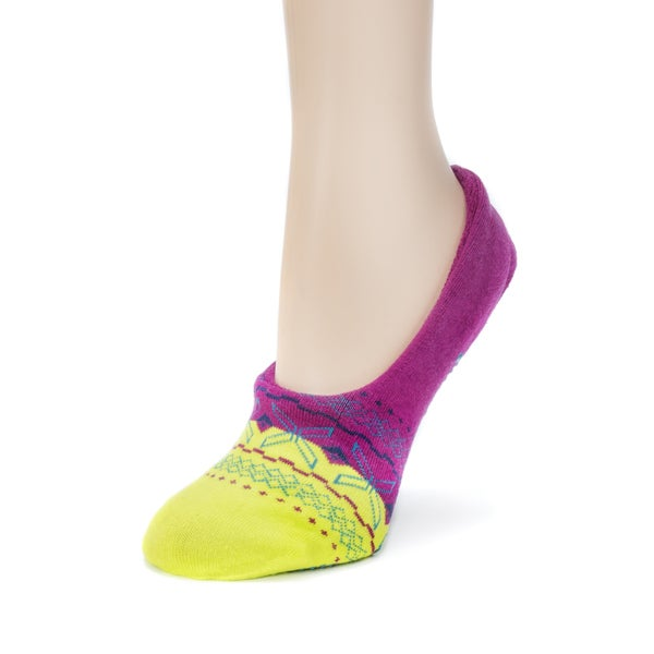 MUK LUKS Womens Ballerina Slipper Socks