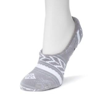 Muk Luks Women's Grey Ballerina Slipper Socks