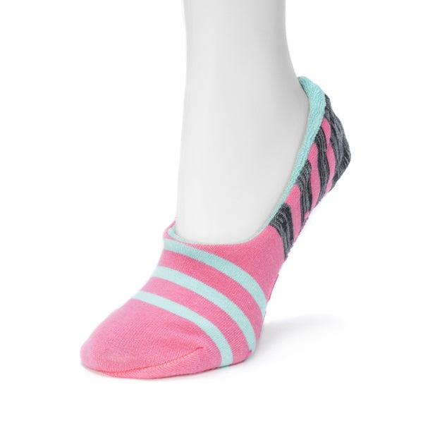 MUK LUKS Women's Ballerina Slipper Socks