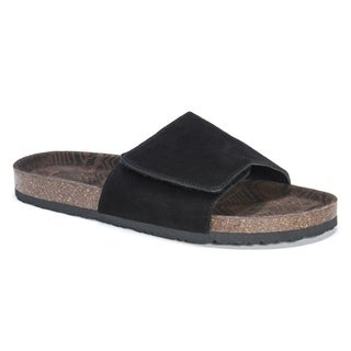 Muk Luks Men's Jackson Black EVA and Suede Sandals