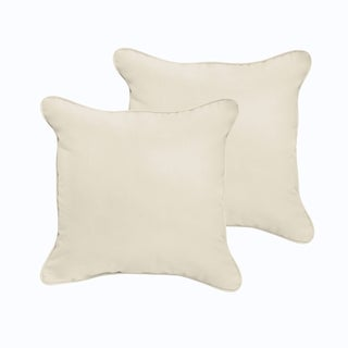 Selena Ivory Indoor/ Outdoor 22-inch Corded Square Pillows