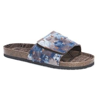 Muk Luks Men's Jackson Blue EVA, Suede Sandals