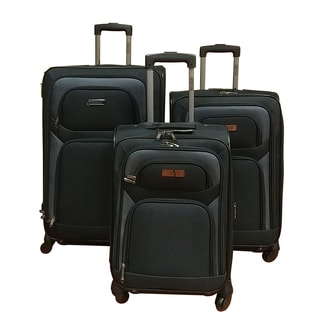 Kenneth Cole Reaction Black 3-piece Spinner Luggage Set