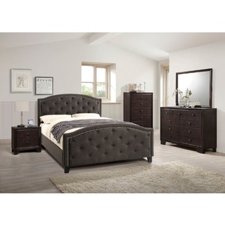 Babek Modern Tufted Black 4-Piece Queen-size Bedroom Set