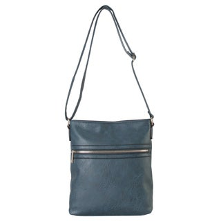 Rimen & Co. Classic Front Zipper Pocket Medium Crossbody Handbag