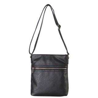Rimen & Co. Classic Front Zipper Pocket Medium Crossbody Handbag