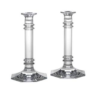 Reed Barton Tempo Crystal 8-inch Candlesticks (Set of 2)