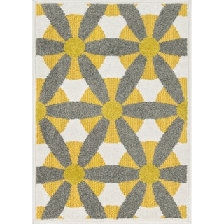 Palm Ivory/ Multi Geometric Rug (1'8 x 2'6)