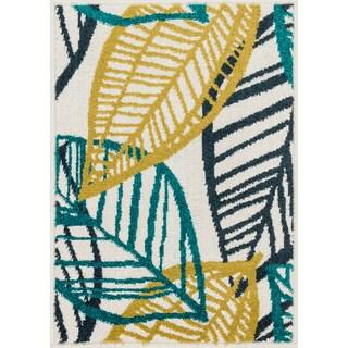 Palm Ivory/ Tropical Rug (1'8 x 2'6) - 1'8 x 2'6