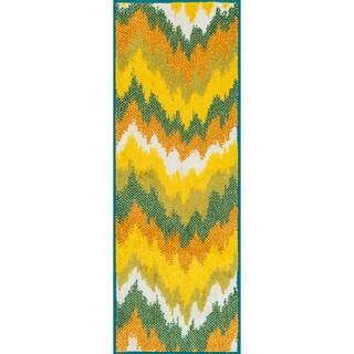 Palm Ivory/ Multi Ikat Rug (1'8 x 5')