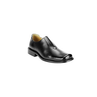 Men's Fratelli Oxford Black Leather and Rubber Shoe