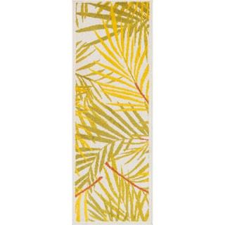 Palm Ivory/ Multi Rug (1'8 x 5')