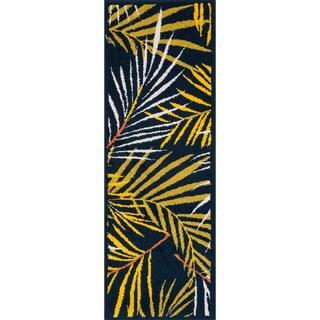 Palm Navy/ Multi Rug (1'8 x 5')