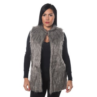 Special One Women's Faux Fur Open-front Mid-length Vest