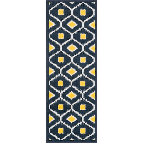Alexander Home Palm Geometric Ikat Rug