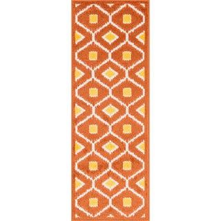 Palm Orange/ Lemon Geometric Rug (1'8 x 5')