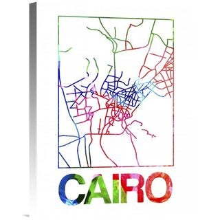 NAXART Studios 'Cairo Watercolor Street Map' Stretched Canvas Wall Art