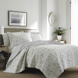 Laura Ashley Harmony Coast Cloud Cotton Quilt Set