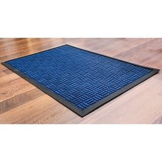 "Doortex Ribmat Heavy Duty Indoor and Outdoor Entrance Mat Blue Size 24"" x 36"""
