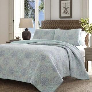 Tommy Bahama Wharton Landing Blue Quilt Set