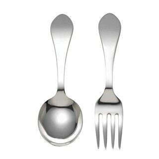 Reed & Barton Pointed Antique Sterling Silver Baby Flatware (Set of 2)