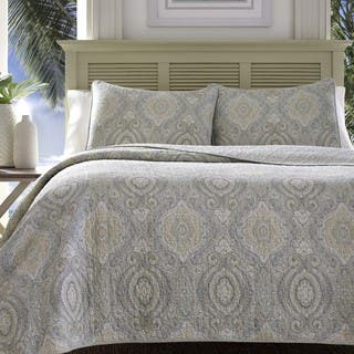 Tommy Bahama Turtle Cove Pelican Medallion Grey Quilt Set|https://ak1.ostkcdn.com/images/products/14086541/P20696758.jpg?impolicy=medium