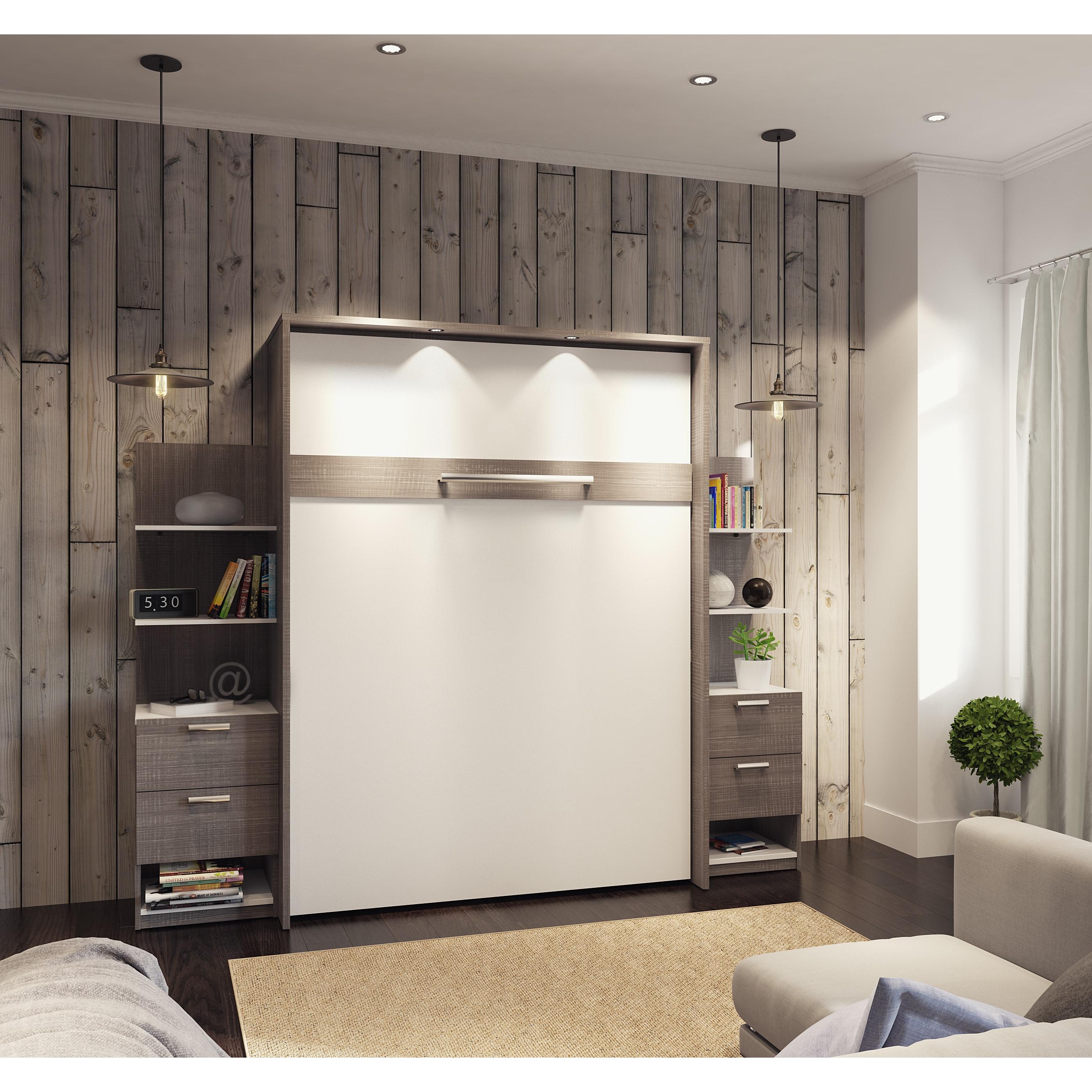 Shop Cielo By Bestar Elite 104 Inch Queen Wall Bed Kit Overstock 14086542