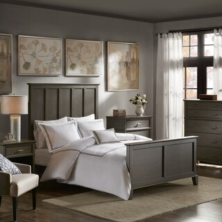 Madison Park Signature Yardley Reclaimed Grey Queen Bed