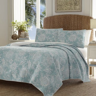 Tommy Bahama Tidewater Jacobean Quilt Set (Option: Full)