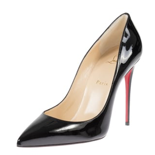 Christian Louboutin Pigalle Follie Black Patent Leather 100 Pumps
