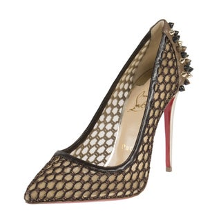 Christian Louboutin Guni Knotted 100mm Marron Glace pumps