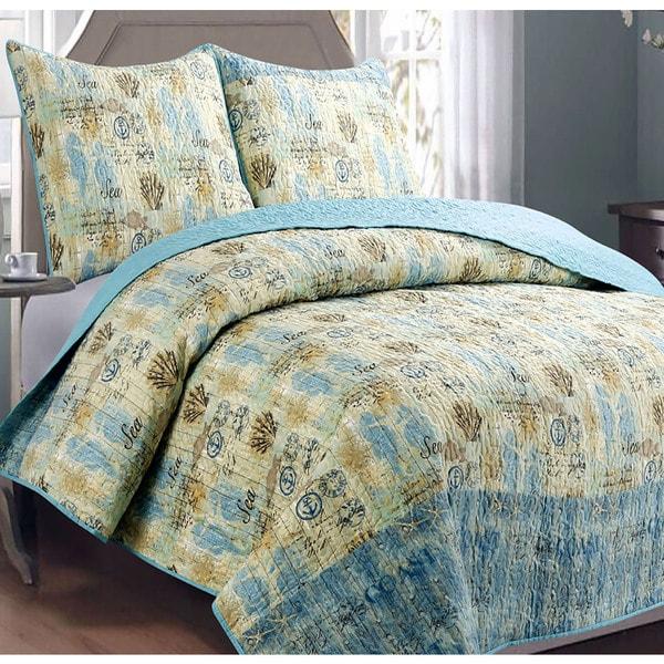 Panama Jack Sea Horses 3 piece Quilt Set