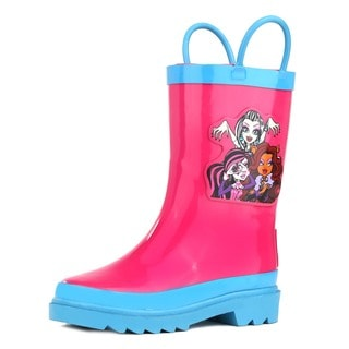 Monster High Girls Hot Pink Rubber Rain Boots