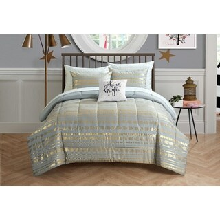 Latitude Camelia Metallic Arrows 8-piece Bed in a Bag Bedding Set