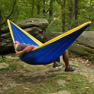 Castaway Travel Double Hammock (Option: Grey)|https://ak1.ostkcdn.com/images/products/14086574/P20696790.jpg?impolicy=medium