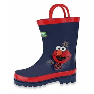 Sesame Street Toddler Kids' Purple Rubber Rain Boots