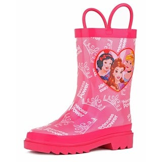 Disney Princess Girls' Pink Rain Boots
