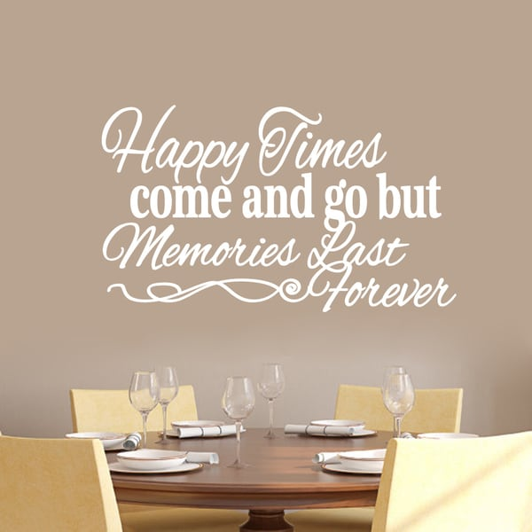 Happy Times Come and Go But Memories Last Forever Wall Decal - 36 x 21 (Ohio). Opens flyout.