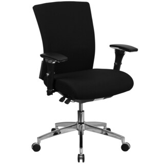 Marco Multi-Shift Black Fabric Executive Adjustable Swivel Office Chair with Height Adjustable Arms