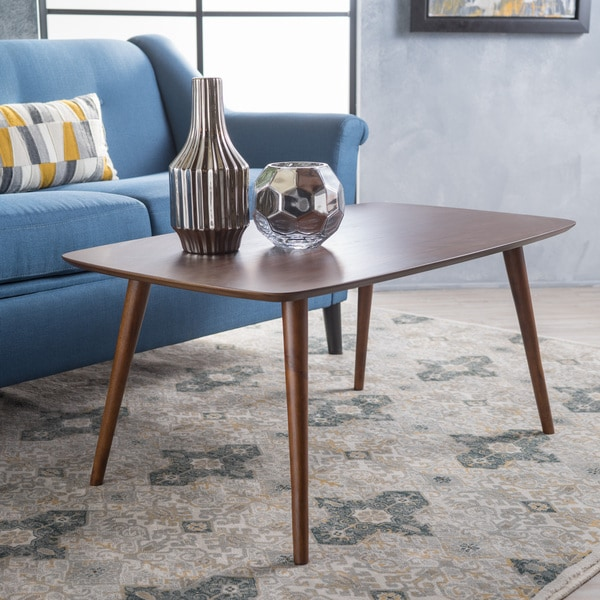 Cilla Mid-Century Wood Rectangle Coffee Table by Christopher Knight Home. Opens flyout.