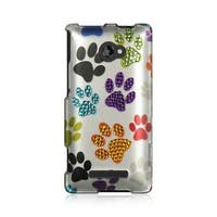 Insten Colorful Hard Snap-on Rubberized Matte Case Cover with Diamond For HTC Windows Phone 8X