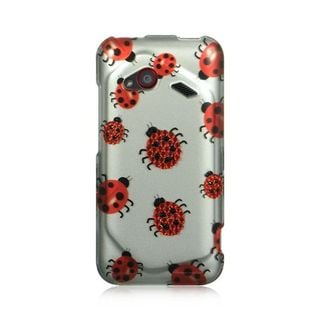 Insten Silver/ Red Hard Snap-on Diamond Bling Case Cover For HTC Droid Incredible (LTE version)