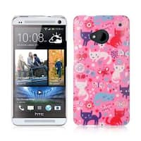 Insten Pink/ White Hard Snap-on Rubberized Matte Case Cover For HTC One M7