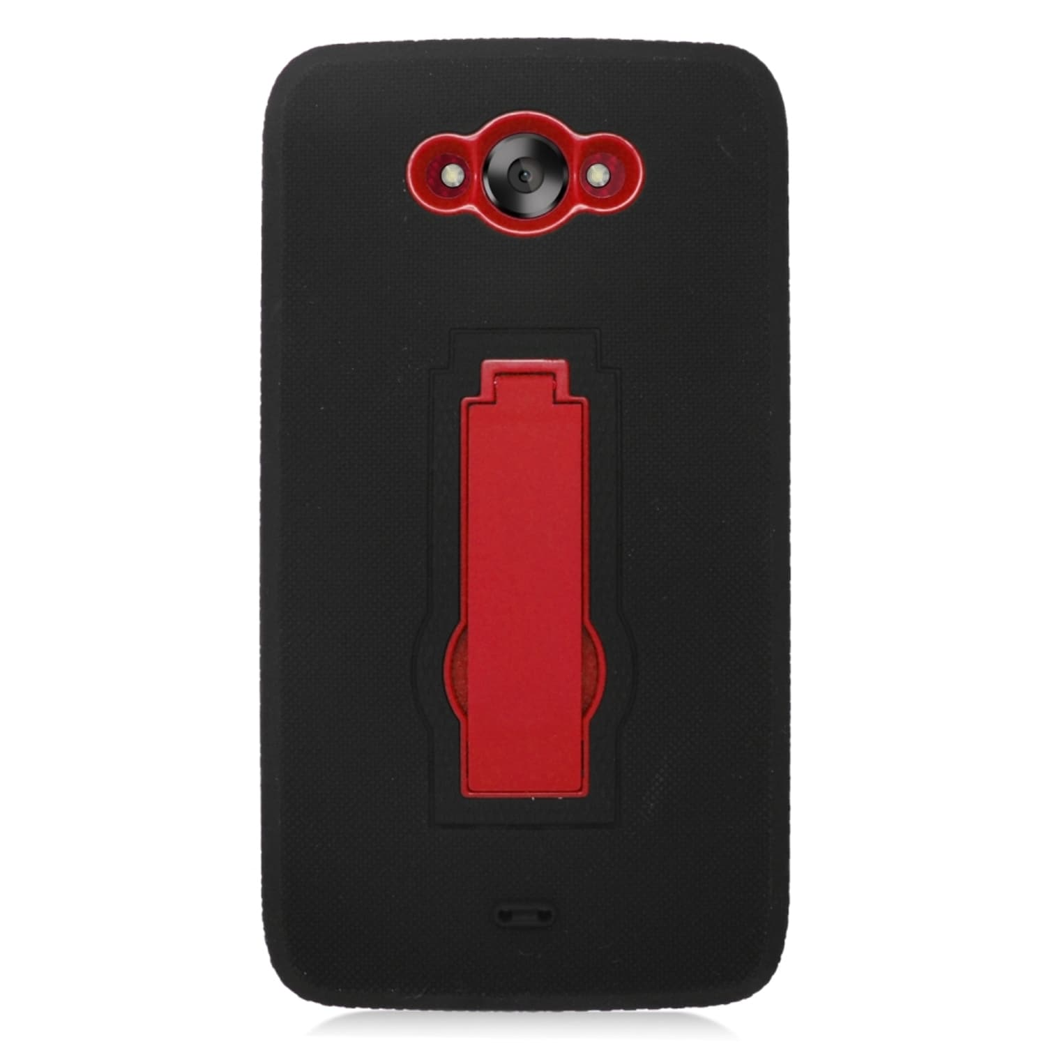 Insten Black/ Red Symbiosis Soft Silicone/ PC Dual Layer ...