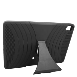Insten Black Wave Symbiosis Soft Silicone/ PC Dual Layer Hybrid Rubber Case Cover with Stand For HTC Google Nexus 9