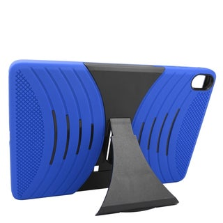 Insten Blue/ Black Wave Symbiosis Soft Silicone/ PC Dual Layer Hybrid Rubber Case Cover with Stand For HTC Google Nexus 9
