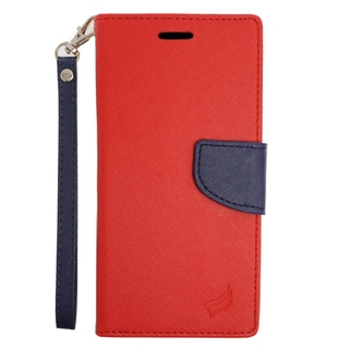 Insten Red/ Blue Leather Case Cover Lanyard with Stand/ Wallet Flap Pouch For Samsung Galaxy Note 5