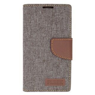 Insten Gray/ Brown Leather Case Cover with Stand/ Wallet Flap Pouch/ Photo Display For LG Volt 2